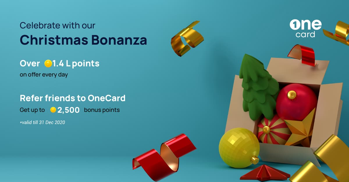 OneCard Christmas Bonanza is here